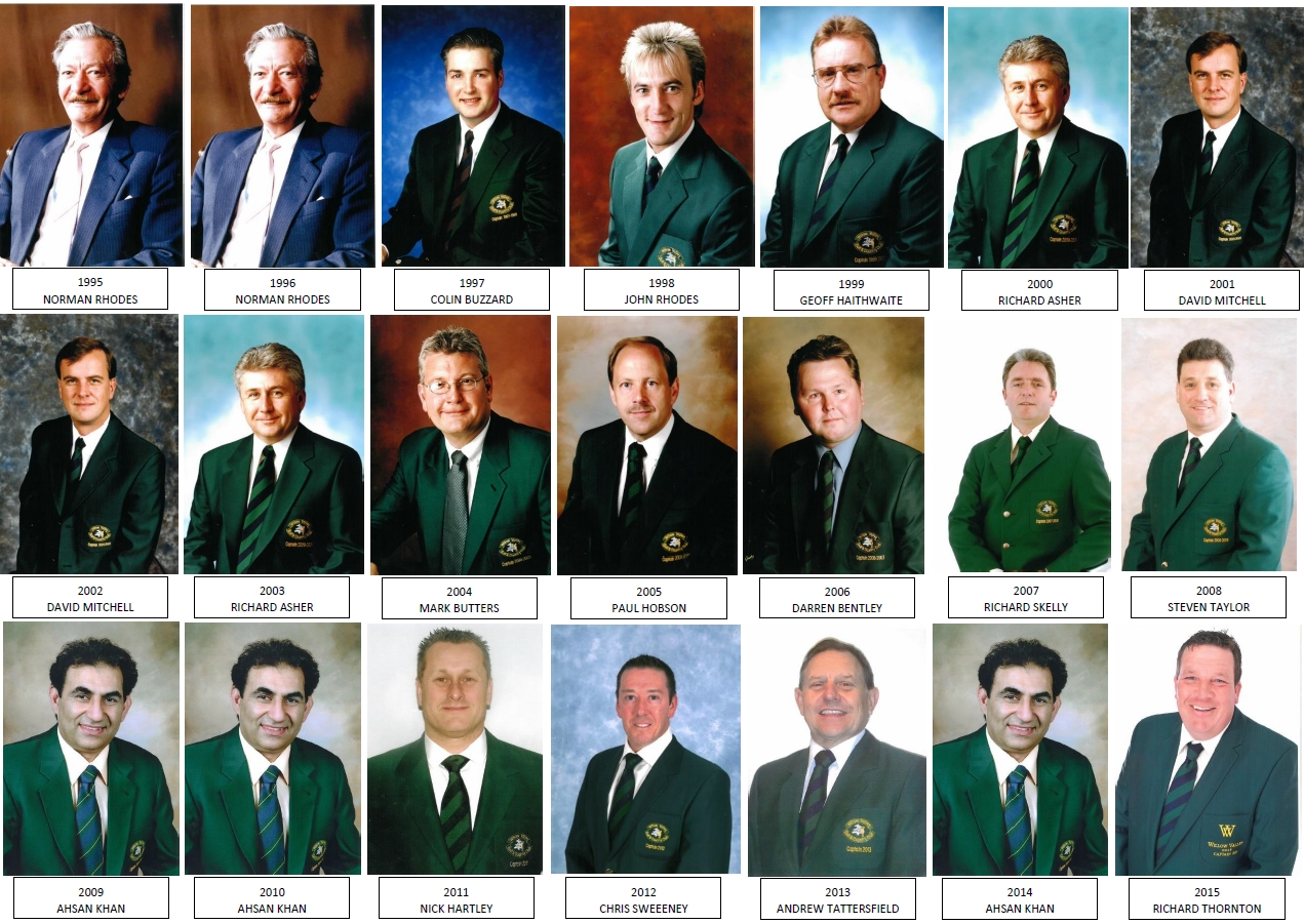 Captains 1996 to 2015