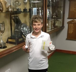 Harry Micklethwaite after his Hole In One on Sunday 24th September
